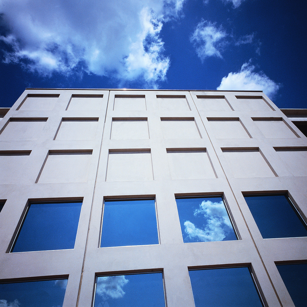 Blue Sky and Office Building